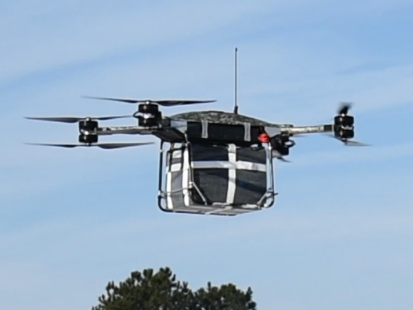 The T-800 is being developed by Malloy Aeronautics. Pictured is a smaller version of the drone called the T-80