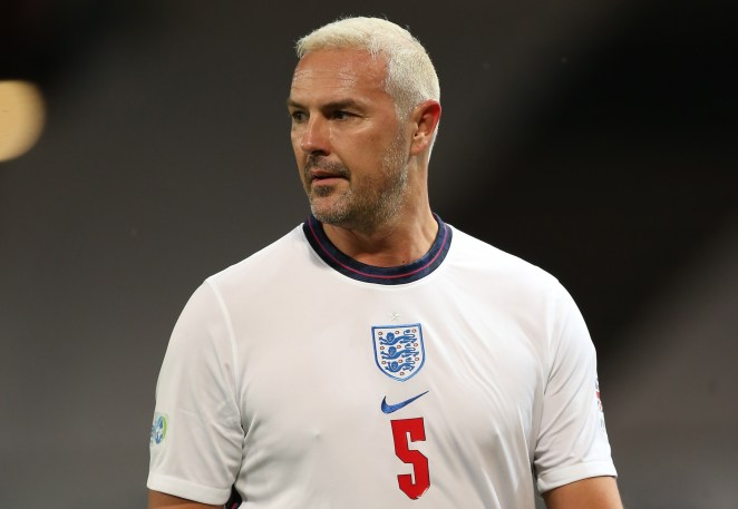 Paddy McGuinness turned out for England on Sunday night