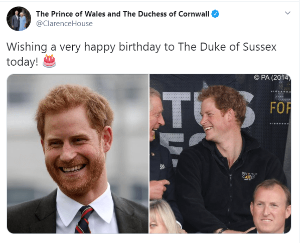Clarence House also shared a birthday message for the duke