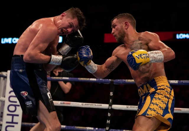 Lomachenko goes toe-to-toe with Luke Campbell at the O2 Arena