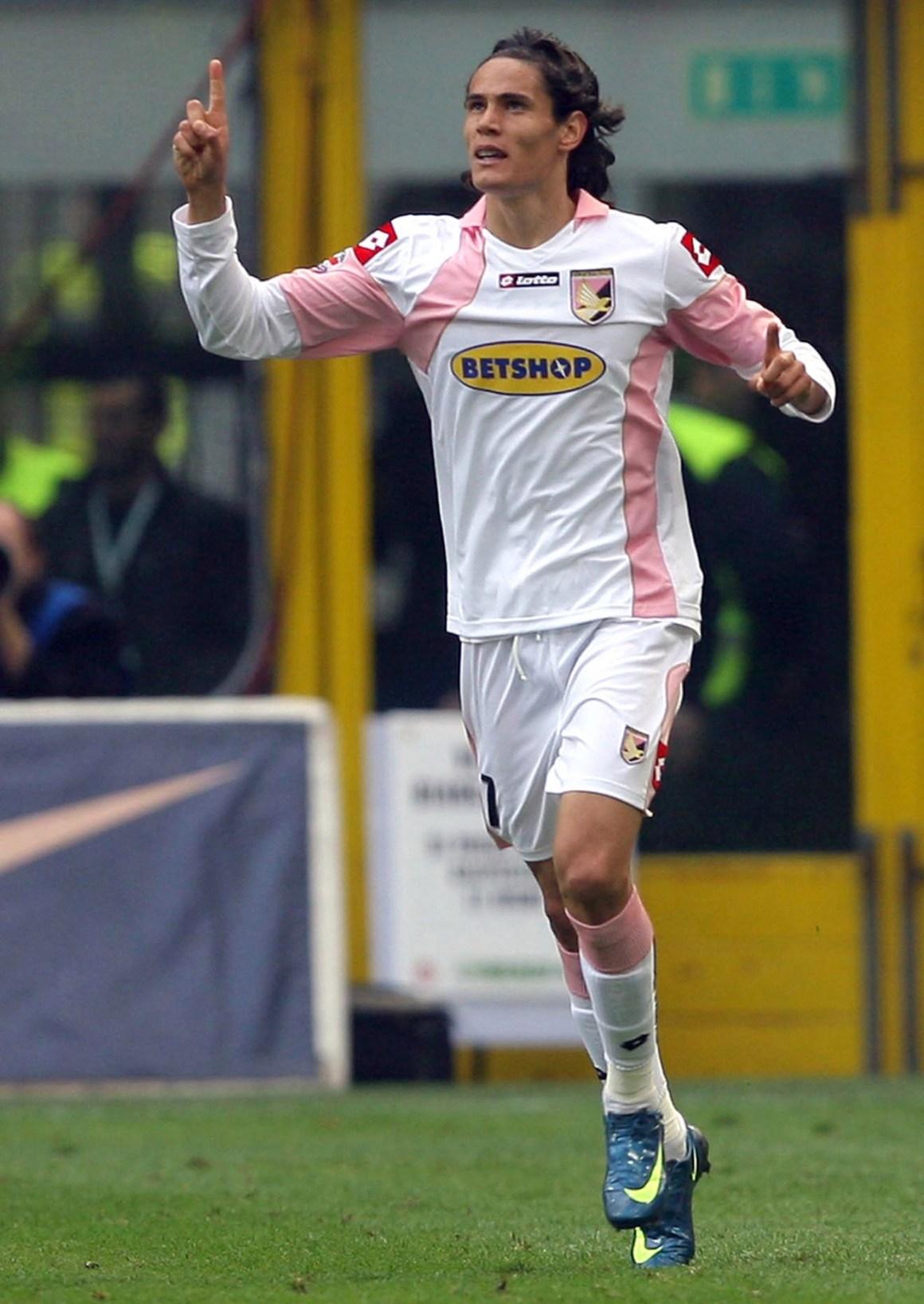 Uruguay striker Edinson Cavani was a Palermo hotshot a decade ago when he was sold to Italian rivals Napoli instead of Man City