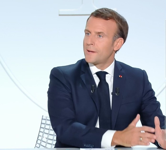 Macron said France had not lost control of the virus but said 'we are in a worrying situation'