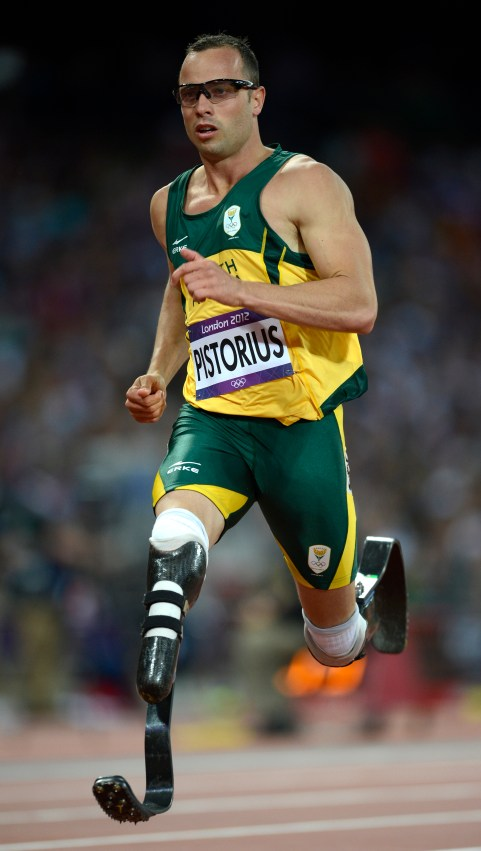 Pistorius competes in the men's 400m semi-finals during the London 2012 Olympic Games