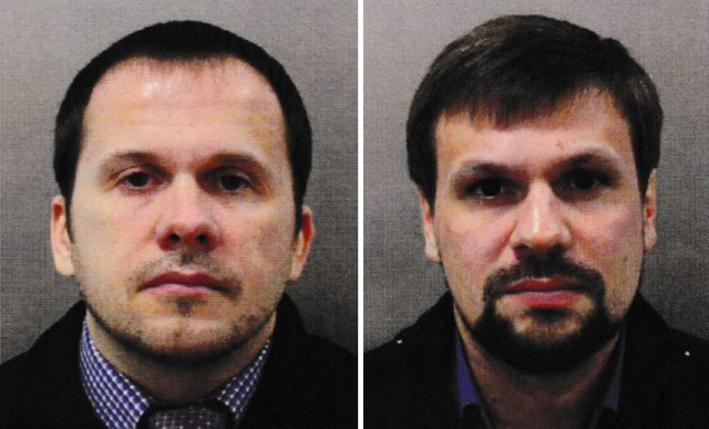 Alexander Petrov and Ruslan Boshirov were later named as suspects