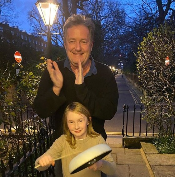 Piers and Elise did the 'Clap for Carers' during lockdown