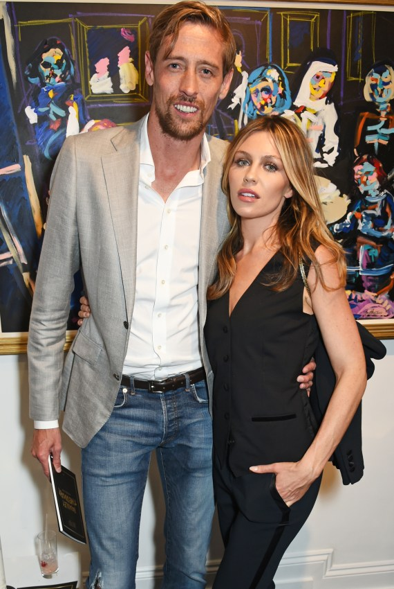 Peter Crouch and wife Abbey Clancy