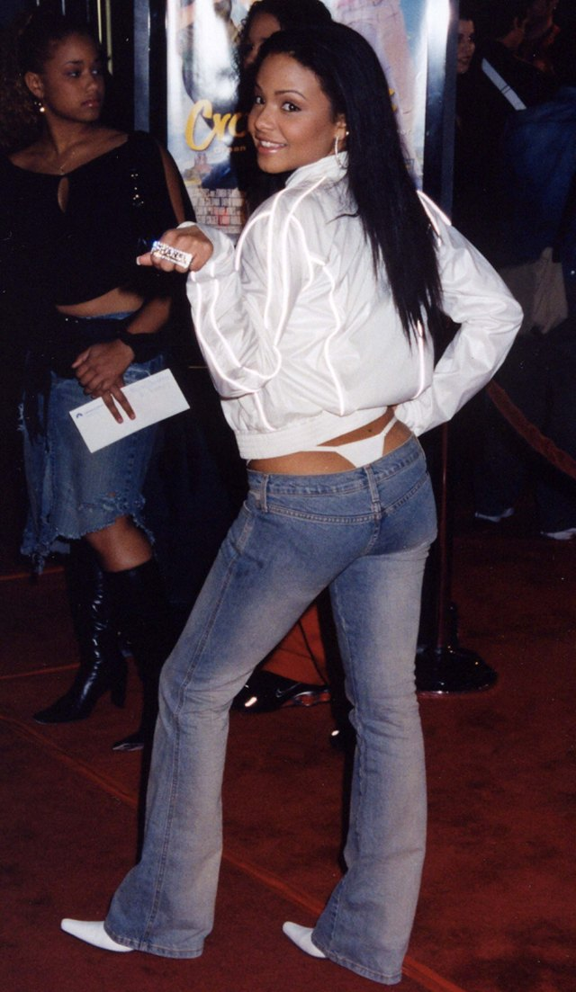 Singer Christina Milian was also seen rocking the racy look 20 years ago
