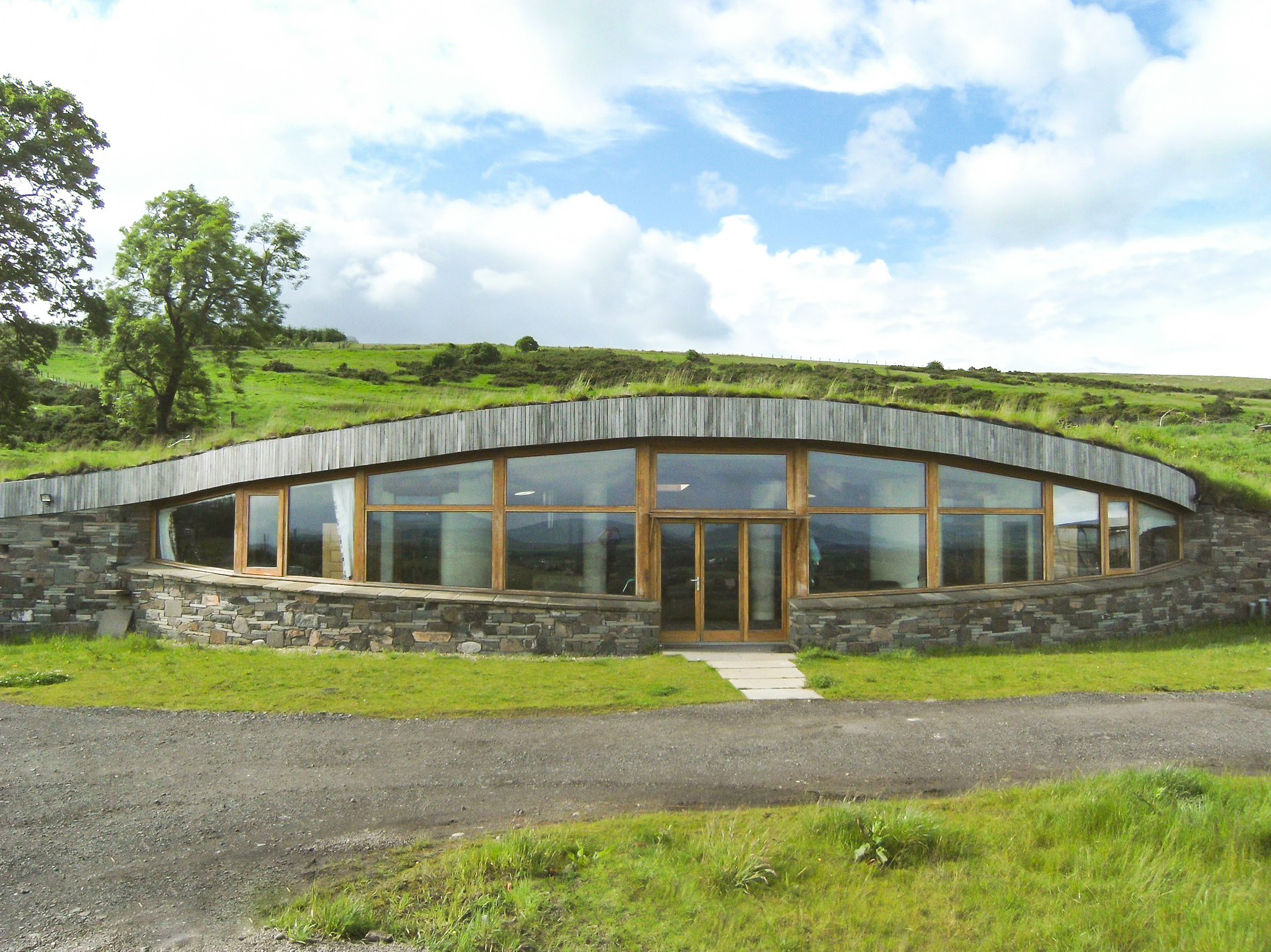 Earth Ship close to Loch Leven is powered by turbines and home-made solar panels