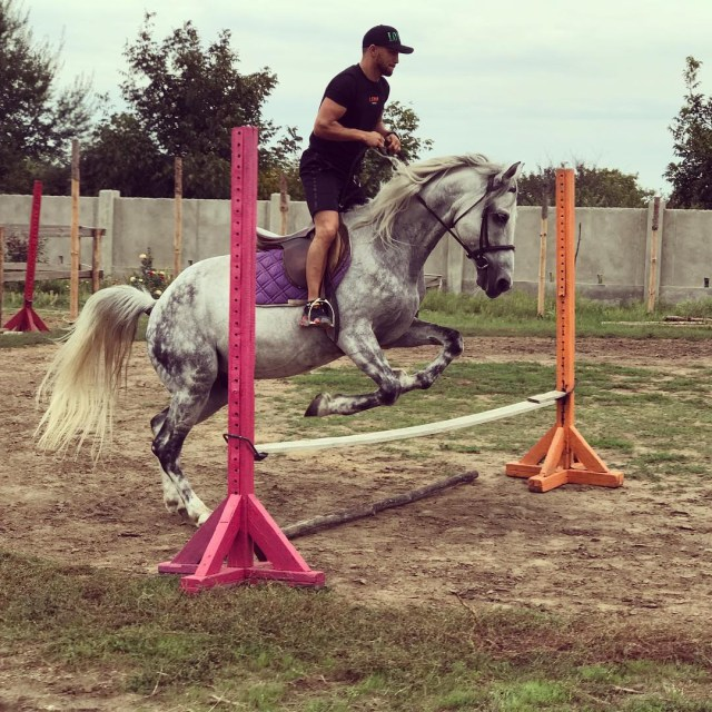 Lomachenko gets to grips with showjumping