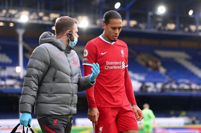 Liverpool confirmed Van Dijk damaged knee ligaments in the collision and will require surgery