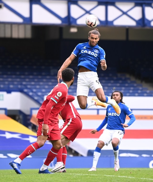 Calvert-Lewin jumped highest to nod home what proved to be the equaliser