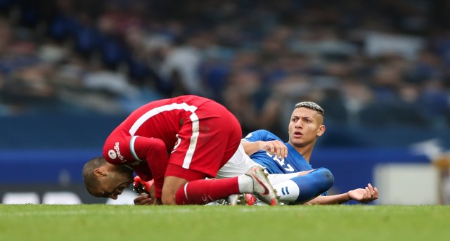 Richarlison saw red for his challenge on Thiago in the 2-2 thriller