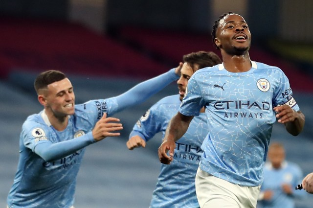 Sterling's goal sealed all three points for City against Arsenal