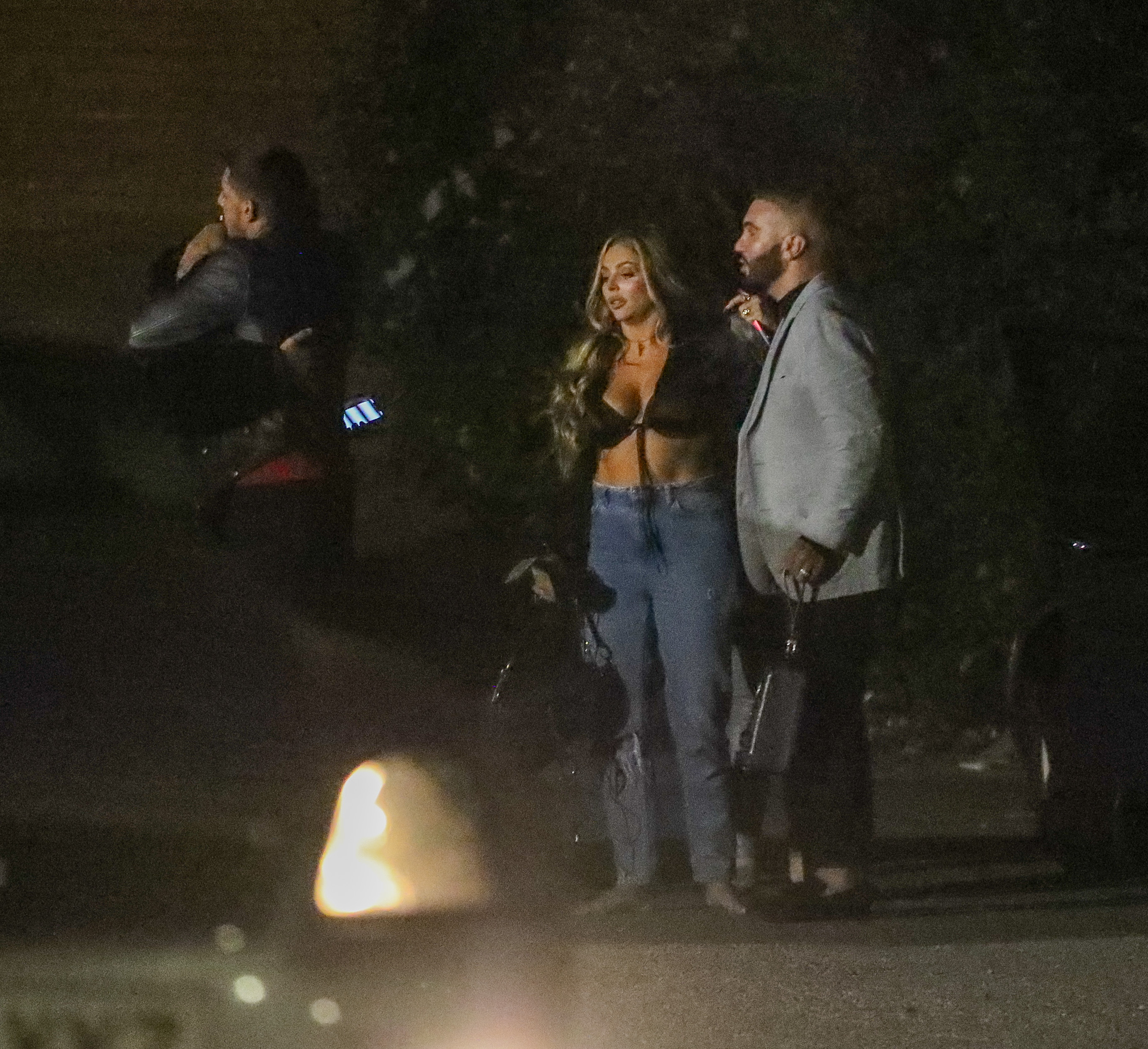 Busty Jesy Nelson enjoys date night with her boyfriend Sean Sagar after Little Mix's show was cancelled this weekend