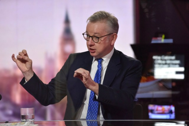 Mr Gove warned that a No Deal Brexit would be 'particularly difficult for France's economy'