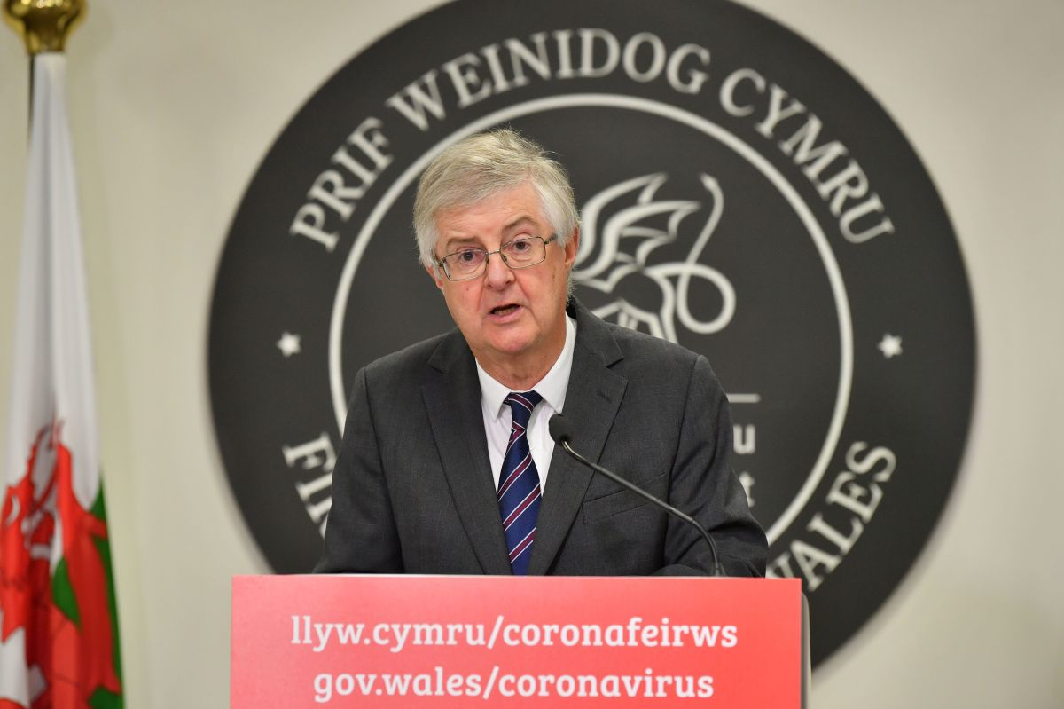 Welsh First Minister Mark Drakeford announced a 17-day fire-break lockdown following a rise in coronavirus cases