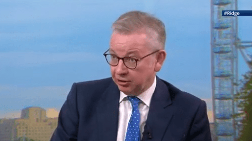Michael Gove claims EU 'not serious' about Brexit talks and says No Deal is 'increasingly likely'
