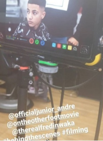 Peter Andre's son Junior shared videos from the set of their new movie On The Other Foot