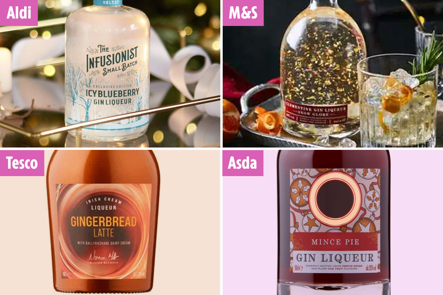 Christmas flavoured drinks are on sale to stock your home bar with this festive season