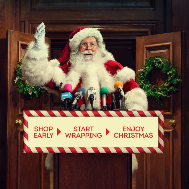 An official poster for the British Retail Consortium's Christmas message