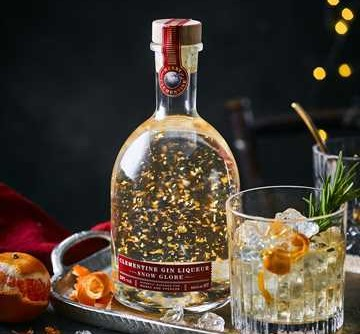 M&S's snow globe bottle is filled with gin and gold