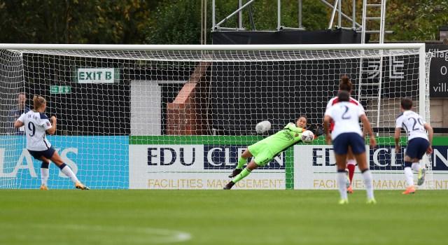 Hero keeper Manuela Zinsberger saved Rianna Dean's penalty