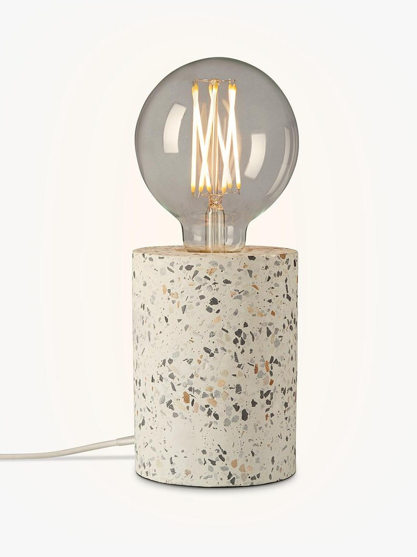 The Terrazzo Bulbholder Table Lamp from John Lewis is lovely...