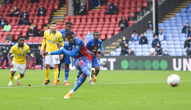 Wilfried Zaha netted from the spot to give Palace a first-half lead