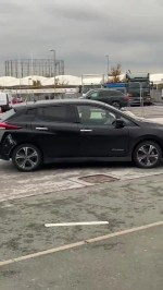 Pep Guardiola arrives for Man City vs Arsenal in modest £30,000 electric Nissan Leaf with apparent dent from crash