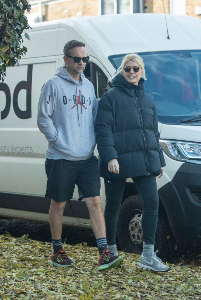 The star and her husband Dan Baldwin take a walk in London this month