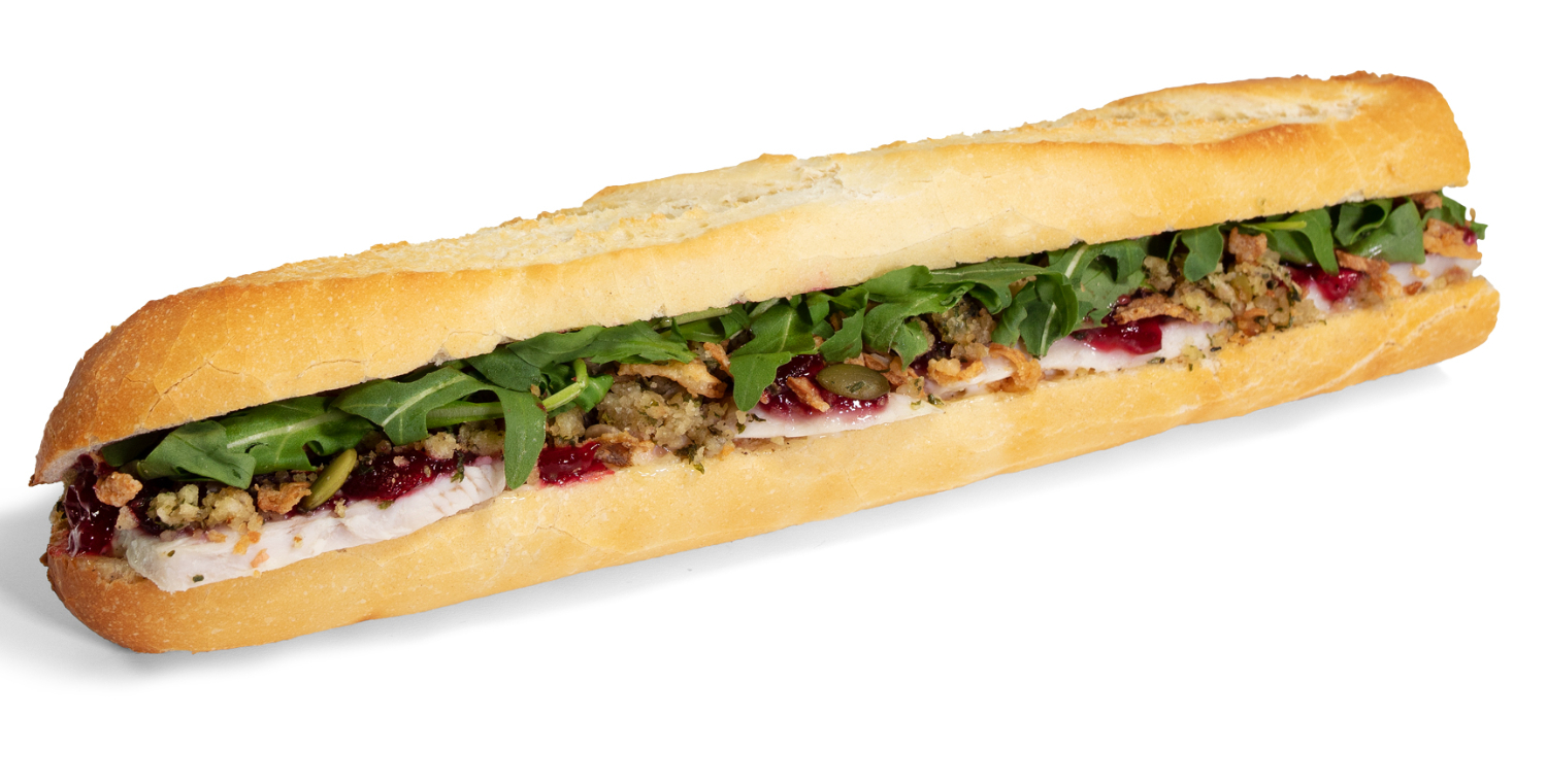 You can grab a full Christmas lunch neatly packed into a warm baguette.