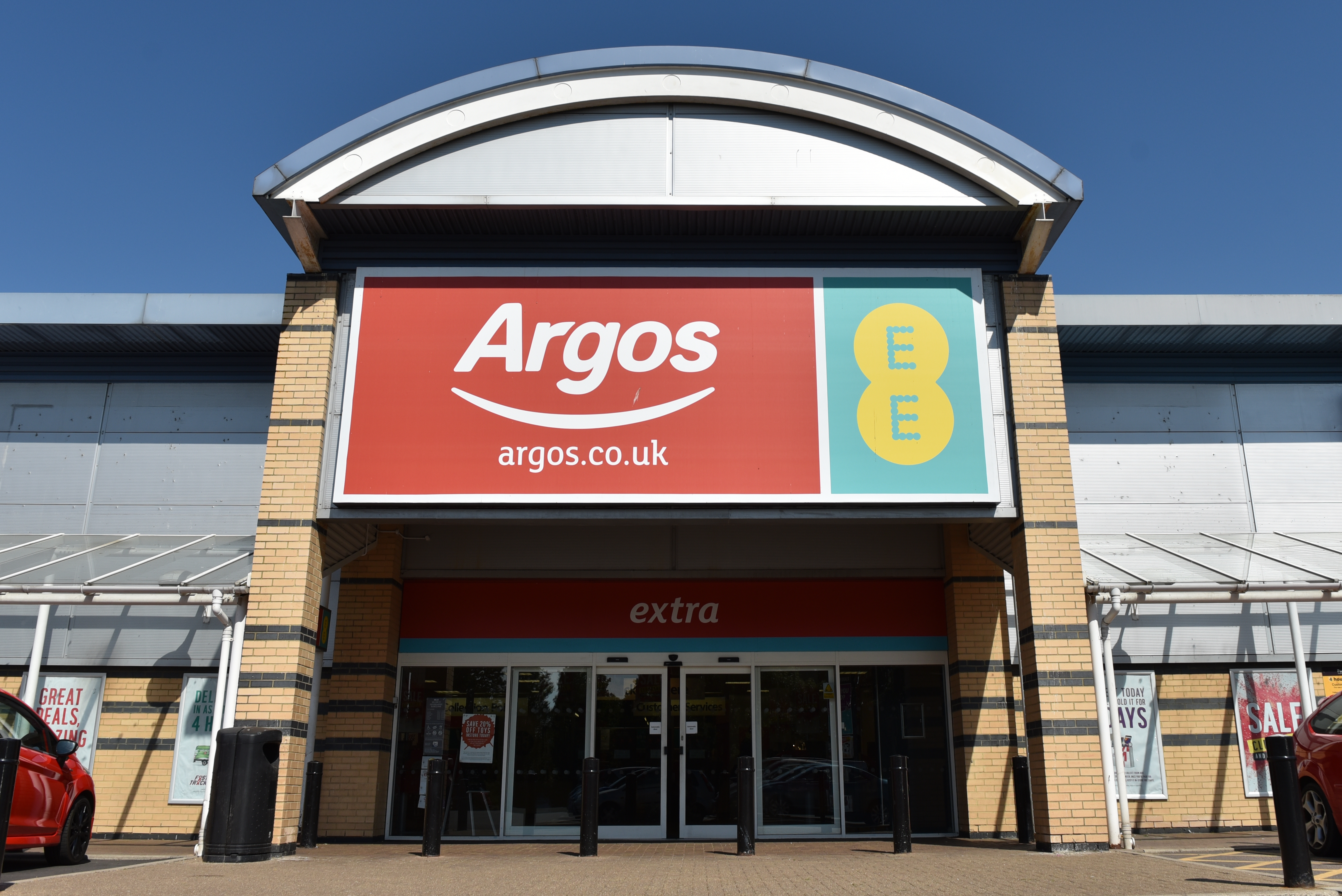 You can pick up online orders at Argos stores but you can't shop inside