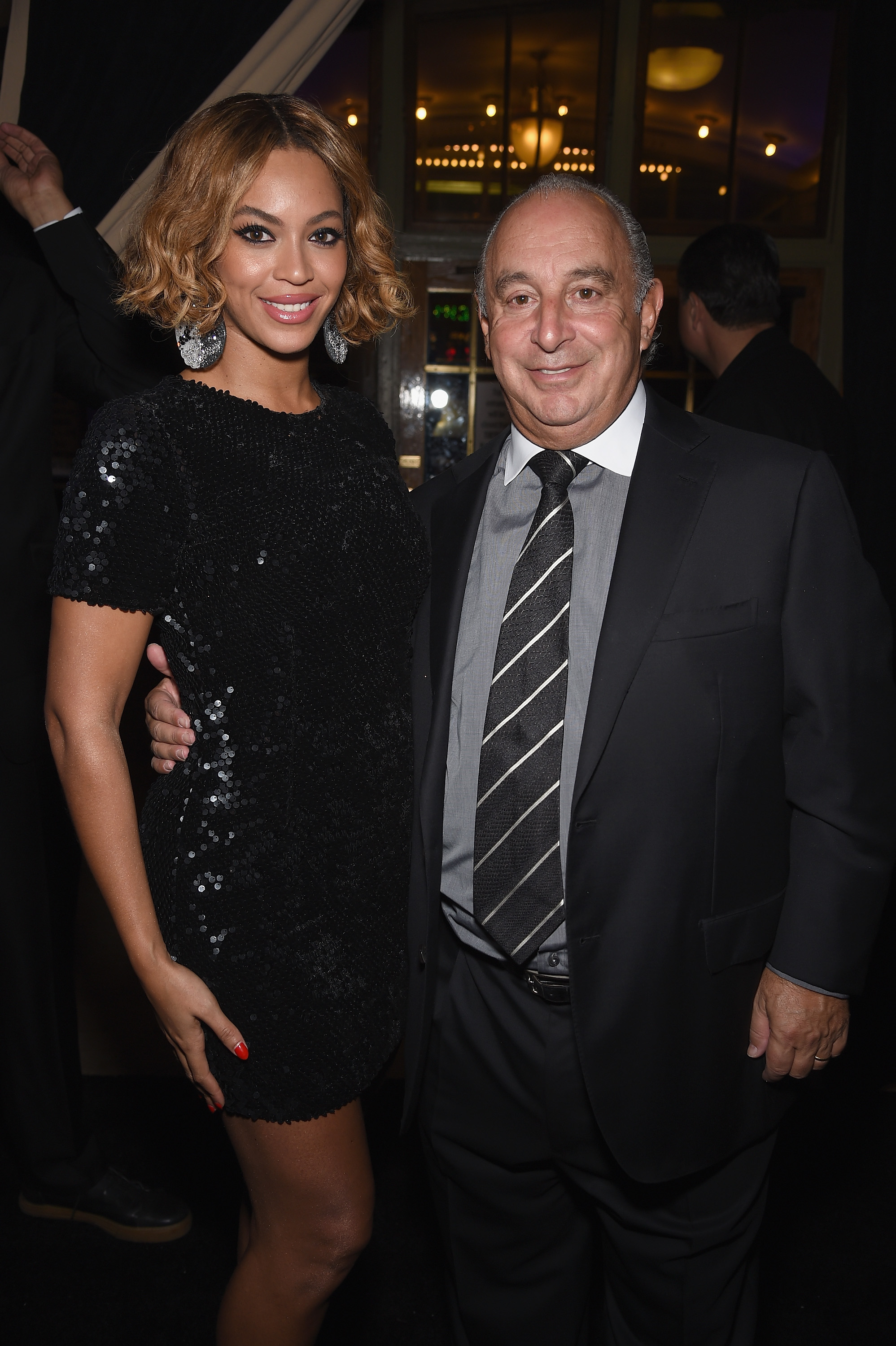 Beyoncé and Sir Philip Green attended Topshop Topman flagship opening dinner in November 2014