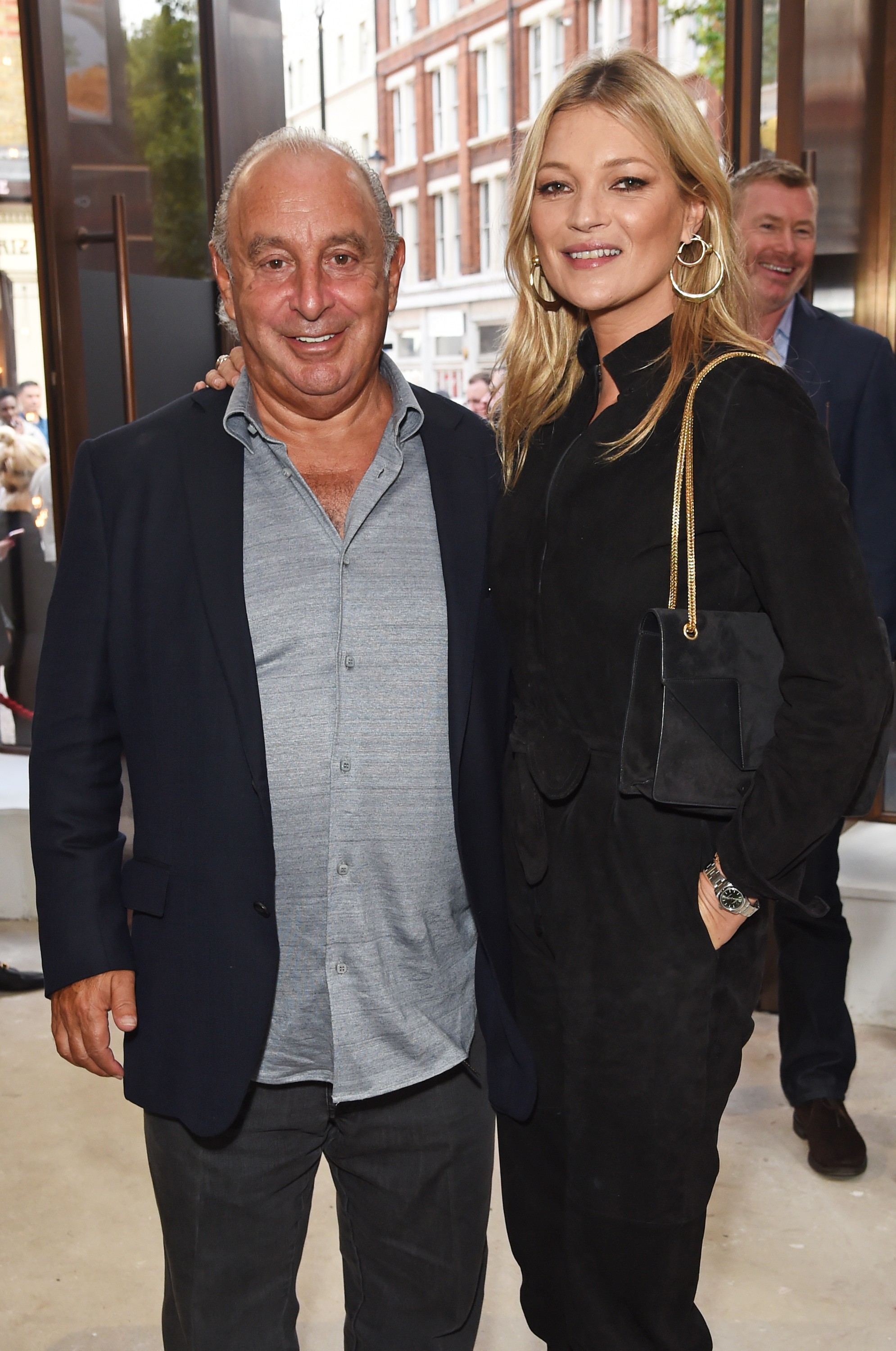 Sir Philip Green and Kate Moss both attended the Topshop London Fashion Week show in September 2017.