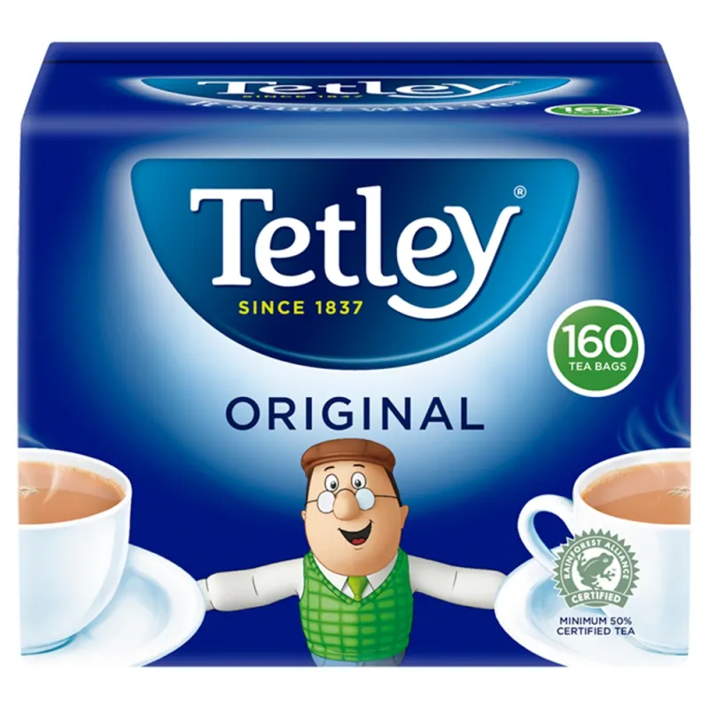 A box of 160 Tetley original tea bags is only £2.82 at Co-op