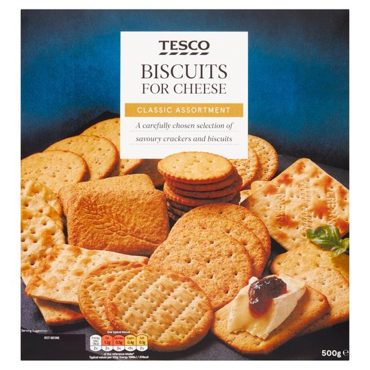 Save £1 and get 50g more with Tesco's Biscuits For Cheese