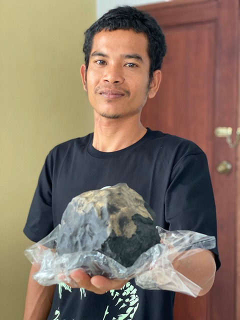 Josua Hutagalung was at home when the football-sized meteorite smashed through his roof