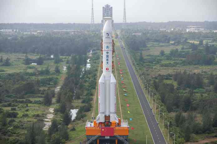 The Long March 5 rocket which will carry the Chang'e-5 lunar probe