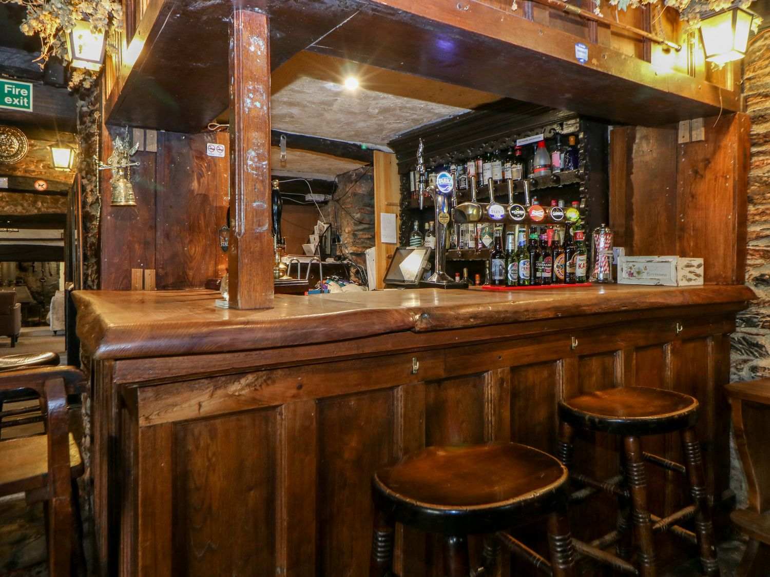 The bar can be fully stocked before you arrive