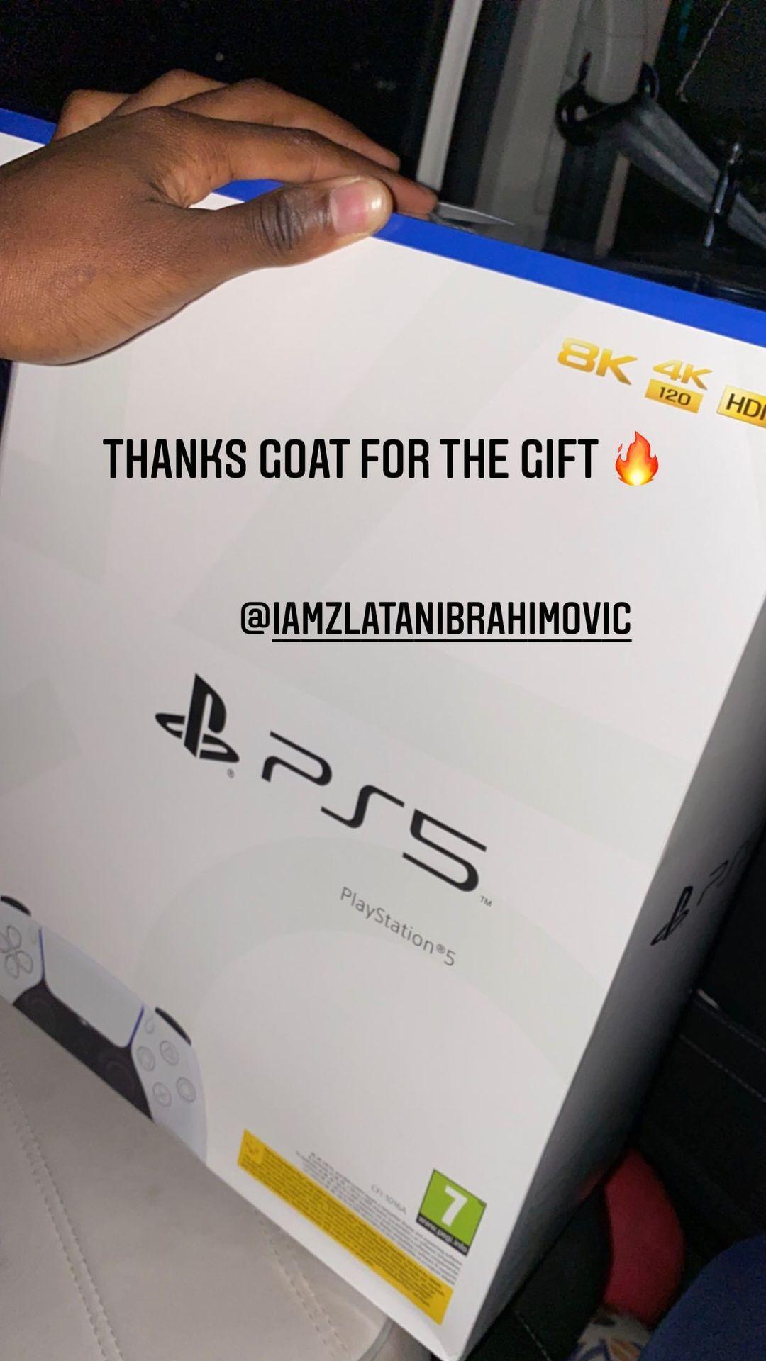 AC Milan forward Rafael Leao also thanked Ibrahimovic for his generous gift