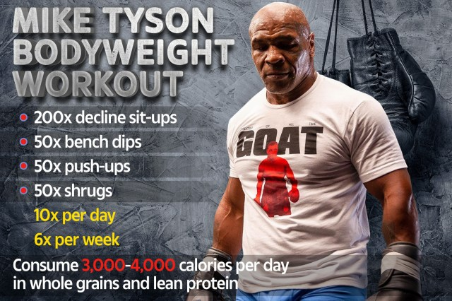 Mike Tyson's incredible bodyweight workout routine