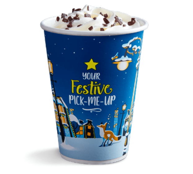 Sip on a mint hot chocolate from Greggs this Christmas