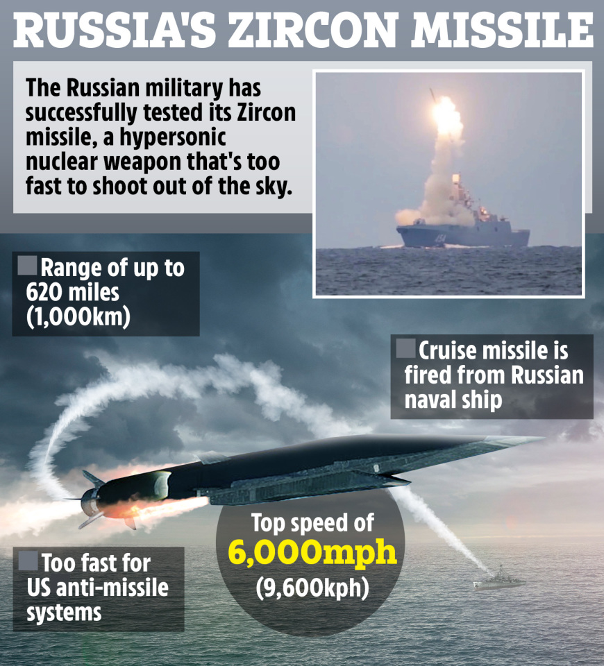 Russia's 'unparalled' cruise missile cannot be picked up by US anti-missile systems