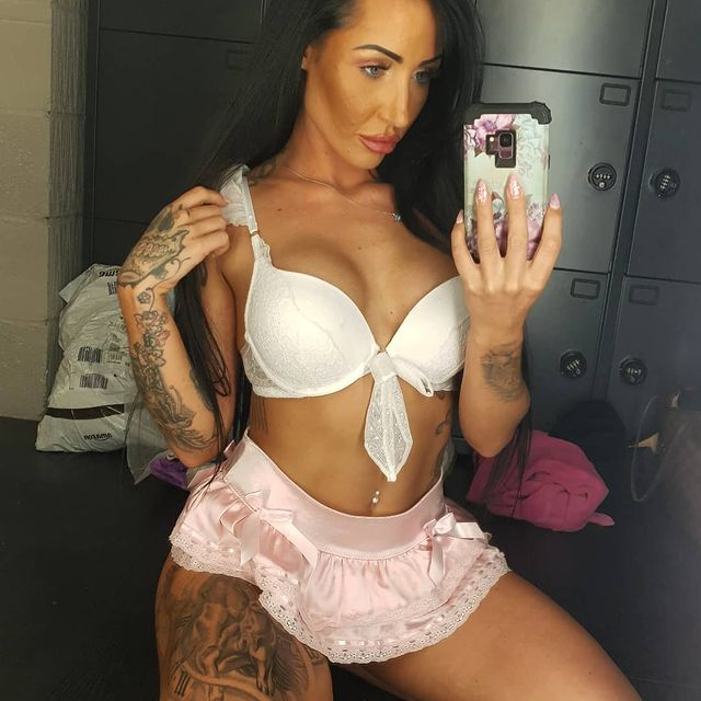 Raunchy Kayleigh Laws wrestled a cop while wearing skimpy underwear