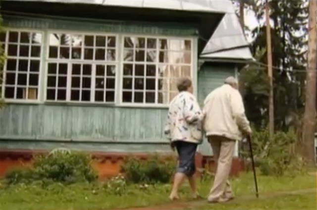 George Blake walks near his country house close to Moscow