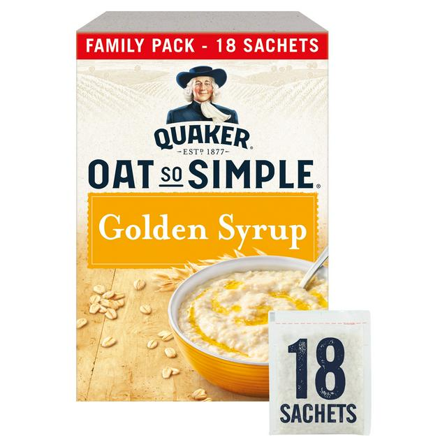 18 Quaker Oat So Simple golden syrup sachets is on offer for £2