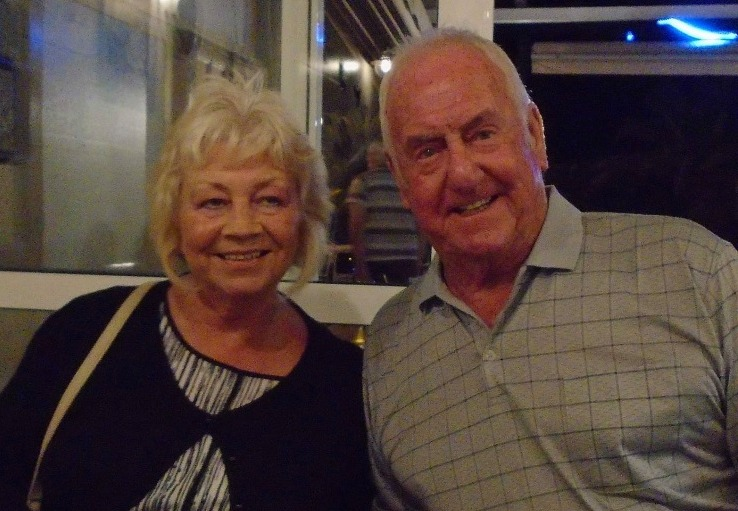 The former policeman was two weeks into a holiday with wife Dot