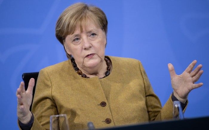 Angela Merkel is said to be concerned about the spread of the mutant coronavirus strain in Germany