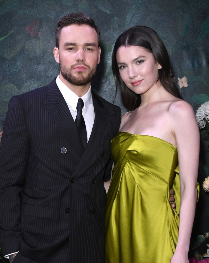 Liam with his fiancee Maya Henry