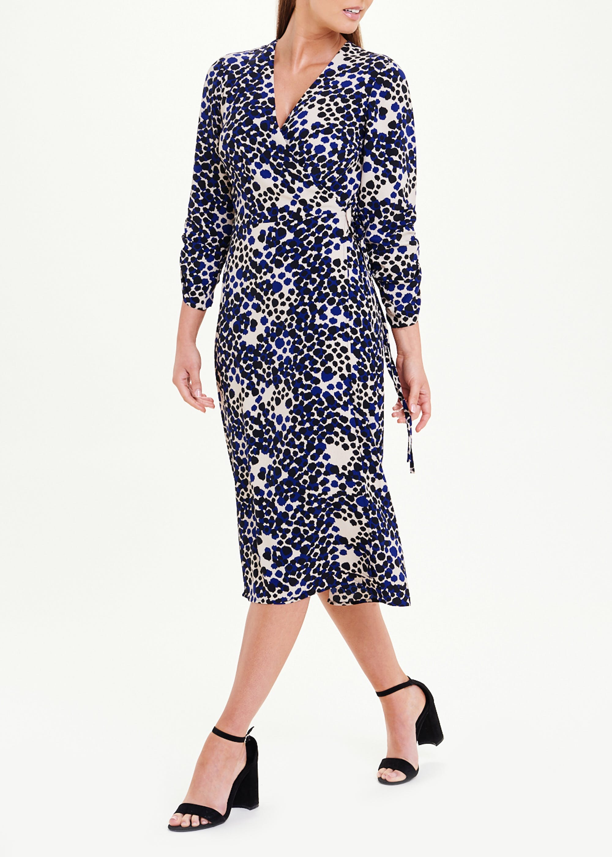 You can't go wrong with a wrap dress - and this is yours for just £12